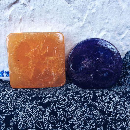 Мыло-мочалка ручной работы. Ярмарка Мастеров - ручная работа. Купить Мыло-мочалка с люффой. Handmade. Оранжевый, апельсин