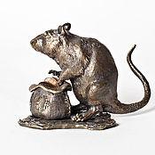 Для дома и интерьера handmade. Livemaster - original item Rat cash-sculpture bronze. Handmade.