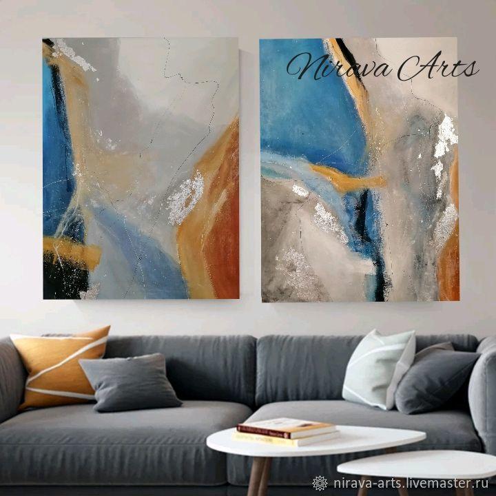 Картины парные, диптих «Abstract Galaxy», Картины, Ростов-на-Дону,  Фото №1