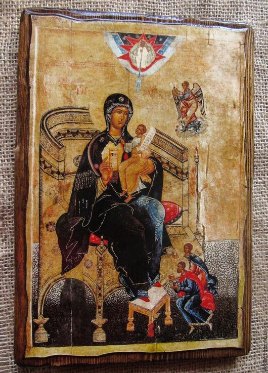 Икона на левкасе. Богоматерь `Гора Нерукосечная`