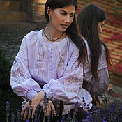 Одежда handmade. Livemaster - original item A chic blouse in the ethno-style