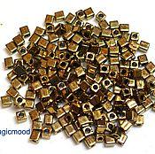 Материалы для творчества handmade. Livemaster - original item 10g 3 457 mm cube Miyuki Japanese glass seed beads bronze metallic. Handmade.