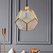 Для дома и интерьера handmade. Livemaster - original item Geometric brass lamp. Handmade.