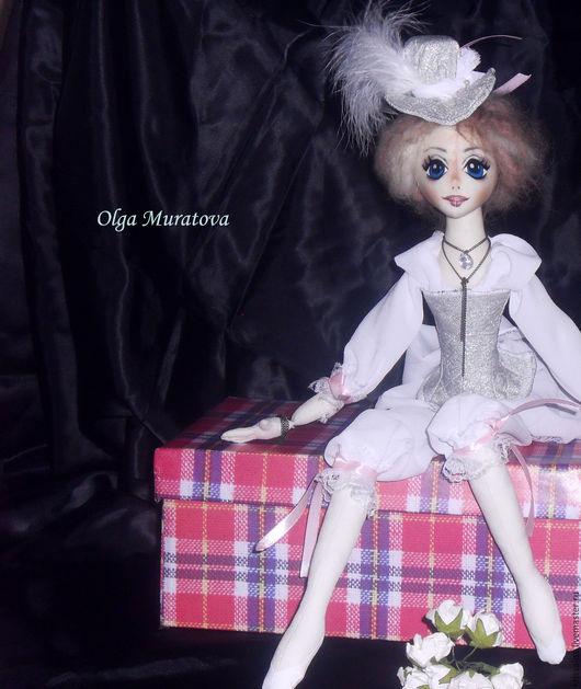 Коллекционные куклы ручной работы. Ярмарка Мастеров - ручная работа. Купить Текстильная коллекционная будуарная кукла. Handmade. Текстильная кукла