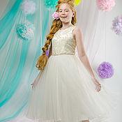"""Работы для детей, ручной работы. Ярмарка Мастеров - ручная работа Платье нарядное для девочки, пышное, длинное """"Фея"""" (айвори - 46). Handmade."""