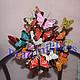 Персональные подарки ручной работы. Ярмарка Мастеров - ручная работа. Купить Букет из бабочек. Handmade. Бабочка, разноцветный, необычный букет