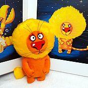 Куклы и игрушки handmade. Livemaster - original item Korolev soft toy plush ginger cat Leo (zodiac sign). Handmade.