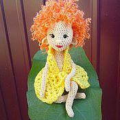 Куклы и игрушки ручной работы. Ярмарка Мастеров - ручная работа Эльф Эля)  вязаная игрушка, куколка, вязаная куколка, игрушка крючком,. Handmade.