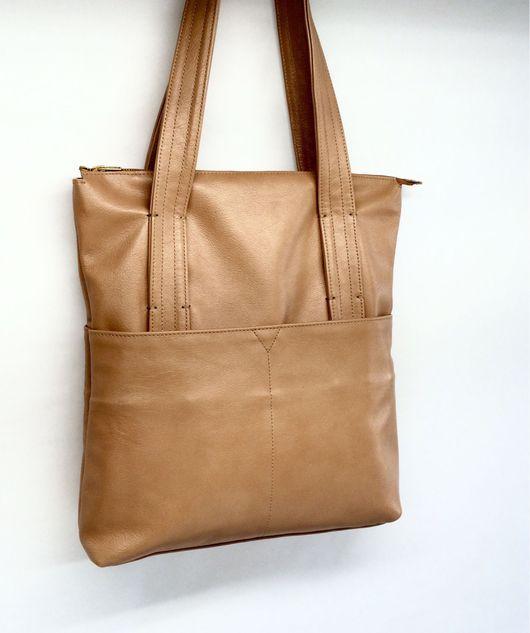 Женские сумки ручной работы. Ярмарка Мастеров - ручная работа. Купить Вместительная сумка кросс-боди из натуральной кожи. Handmade.