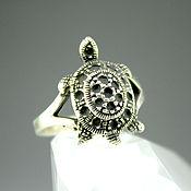 Украшения handmade. Livemaster - original item Ring Turtle 925 sterling silver. Handmade.