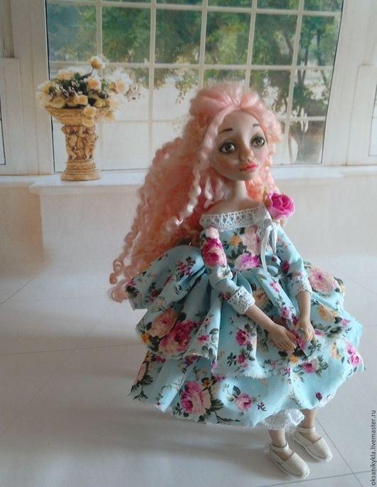 Коллекционные куклы ручной работы. Ярмарка Мастеров - ручная работа. Купить интерьерная кукла Мальвина из запекаемого пластика. Handmade. Розовый