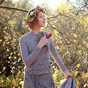 Одежда ручной работы. Ярмарка Мастеров - ручная работа Жакет Странница вязанный крючком. Handmade.