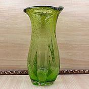 Винтаж handmade. Livemaster - original item Vintage vase Hana Machovska Bohemian glass Rarity!. Handmade.