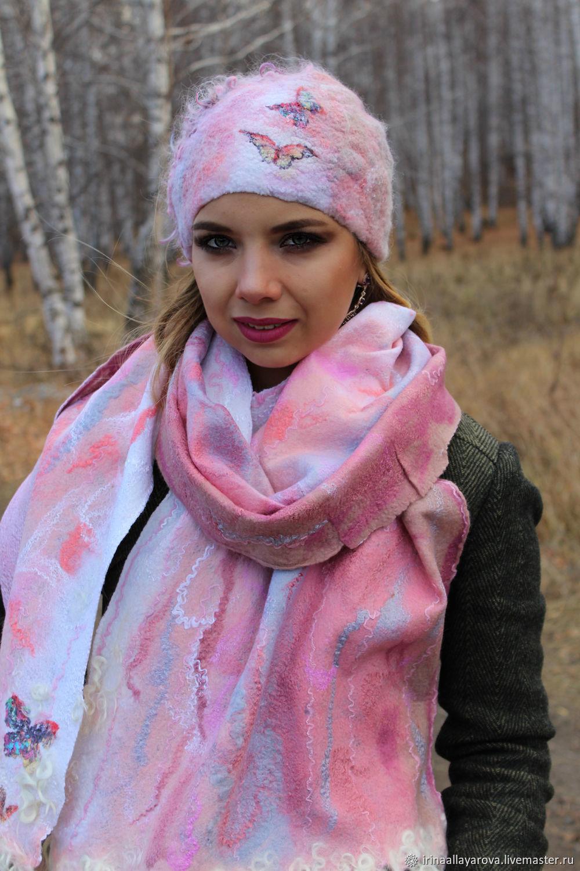 Beanie felted scarf Gentle sleep, Caps, Verhneuralsk, Фото №1