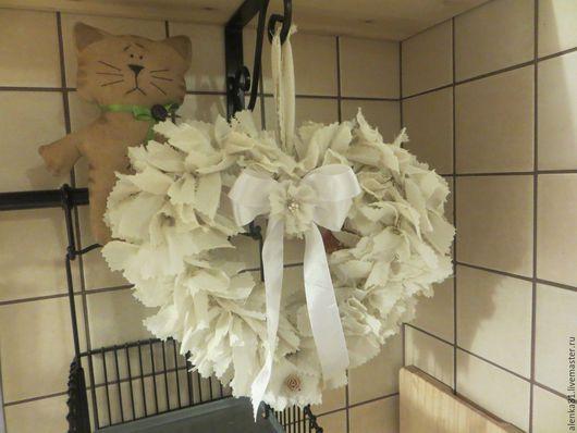 Подарки для влюбленных ручной работы. Ярмарка Мастеров - ручная работа. Купить текстильные сердечки. Handmade. Белый, текстильное украшение