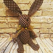 Мягкие игрушки ручной работы. Ярмарка Мастеров - ручная работа Зайка в горошек. Handmade.
