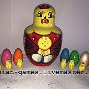 Куклы и игрушки ручной работы. Ярмарка Мастеров - ручная работа Курица с цыплятами. Handmade.