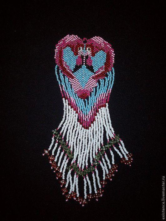 """Кулоны, подвески ручной работы. Ярмарка Мастеров - ручная работа. Купить Подвеска из бисера """"Love"""". Handmade. Love, ручная работа"""