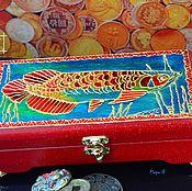 Фен-шуй и эзотерика handmade. Livemaster - original item Box money, Money talisman, Arowana Feng Shui. Handmade.