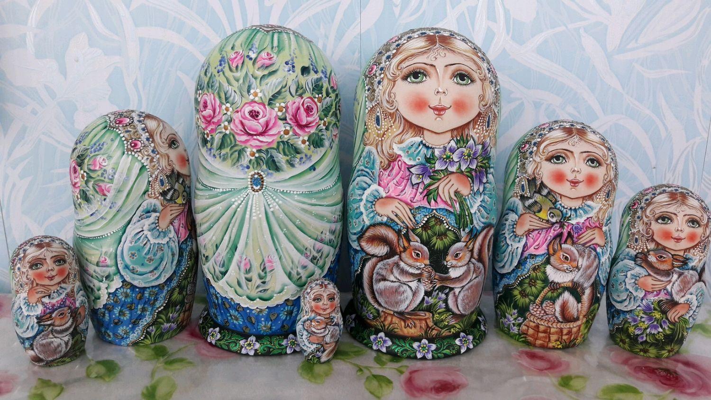 Матрёшки с белочками, Именные сувениры, Ульяновск,  Фото №1