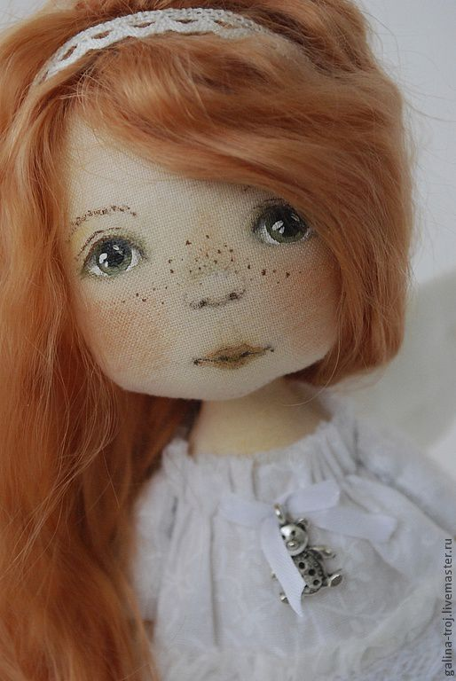 Коллекционные куклы ручной работы. Ярмарка Мастеров - ручная работа. Купить Рыжий Ангелочек. Handmade. Белый, Подарок на день ангела