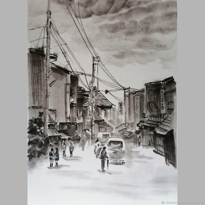 Прогулка, Киото, Картины, Москва,  Фото №1
