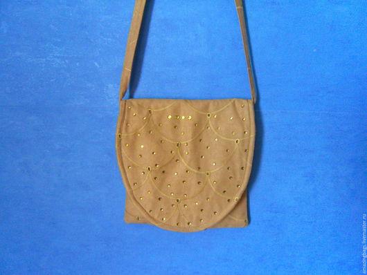 Женские сумки ручной работы. Ярмарка Мастеров - ручная работа. Купить Замшевая маленькая сумка. Handmade. Коричневый, маленькая сумочка