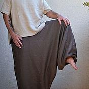 Одежда ручной работы. Ярмарка Мастеров - ручная работа Льняные штаны-афгани  для мужчин с карманами - 23 расцветки. Handmade.
