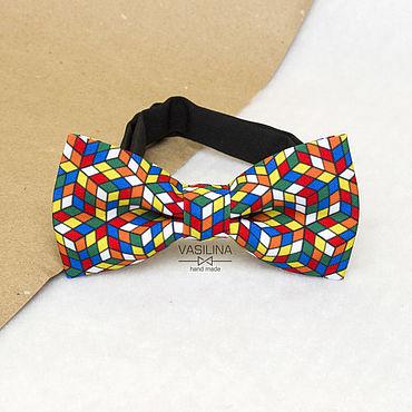 Accessories handmade. Livemaster - original item Bow tie Rubik`s Cube. Handmade.