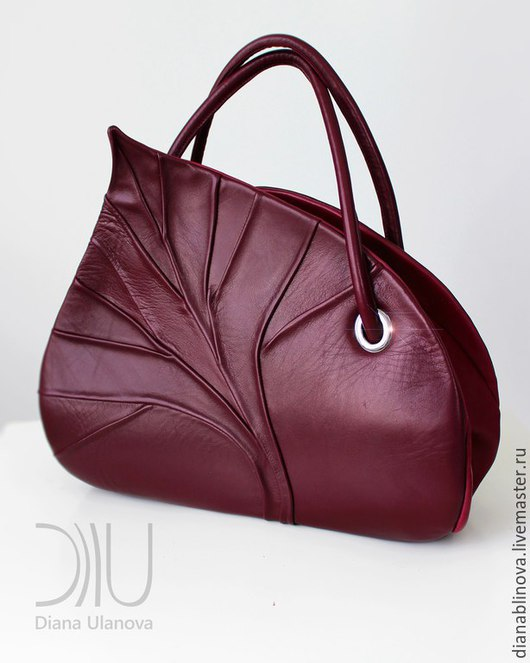 Женские сумки ручной работы. Ярмарка Мастеров - ручная работа. Купить Лист саквояж. Handmade. Красивая сумка, элегантная сумка