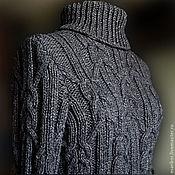 Одежда ручной работы. Ярмарка Мастеров - ручная работа Тёплый свитер с косами.. Handmade.