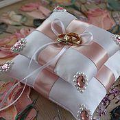 handmade. Livemaster - original item Cushion for rings of white.. Handmade.