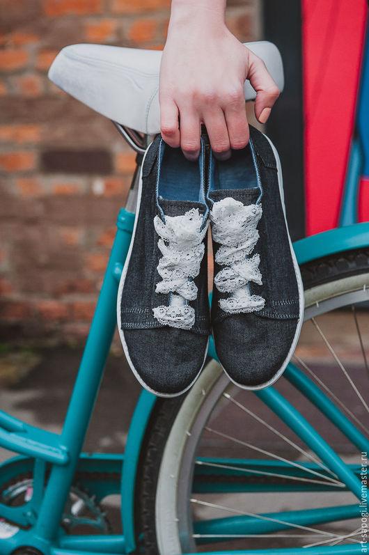 Обувь ручной работы. Ярмарка Мастеров - ручная работа. Купить Кеды 12-325-s41  (СБ). Handmade. Мода