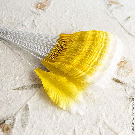 Цветы для скрапбукинга, бумажные листья и бумажные лепестки для малбери флористики