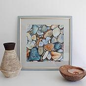 Картины и панно handmade. Livemaster - original item Watercolor Stones Picture in frame. Handmade.