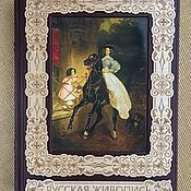 Сувениры и подарки handmade. Livemaster - original item Russian painting (gift leather book). Handmade.