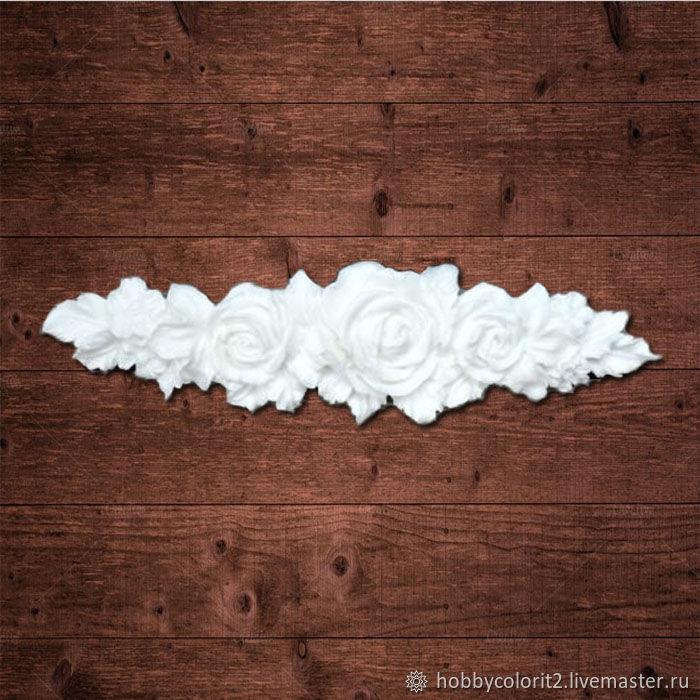Гирлянда из больших роз, Размер 12,5х3,5см, Материалы, Москва, Фото №1