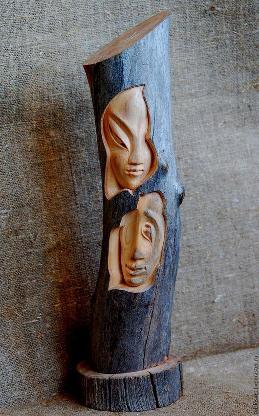 """Статуэтки ручной работы. Ярмарка Мастеров - ручная работа. Купить Статуэтка из дерева """"Она и Он"""". Handmade. Статуэтка, двое"""