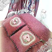 Куклы и игрушки ручной работы. Ярмарка Мастеров - ручная работа Кукольная кровать Розовый сад. Handmade.