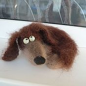 Куклы и игрушки handmade. Livemaster - original item Knitted Dachshund - knitted puppy knitted toy. Handmade.