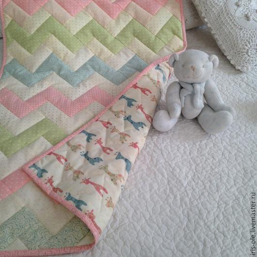 Пледы и одеяла ручной работы. Ярмарка Мастеров - ручная работа. Купить КОЛЫБЕЛЬКА  детский лоскутный плед. Handmade. Лоскутное одеяло