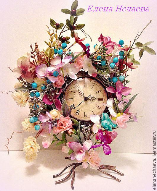 """Часы для дома ручной работы. Ярмарка Мастеров - ручная работа. Купить Интерьерные часы """"Весенняя Вена"""" Декоративные часы. Handmade."""
