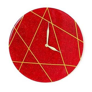 Для дома и интерьера ручной работы. Ярмарка Мастеров - ручная работа Настенные часы Стильные ЛИНИИ. Handmade.