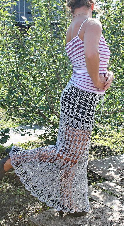 Юбки ручной работы. Ярмарка Мастеров - ручная работа. Купить Ажурная юбка.. Handmade. Серый, юбка крючком, юбка