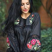 Одежда handmade. Livemaster - original item Elegant blouse embroidery