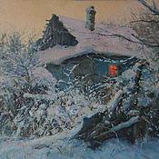Картины и панно handmade. Livemaster - original item Peach evening. Oil on canvas. 40h50 cm. Handmade.