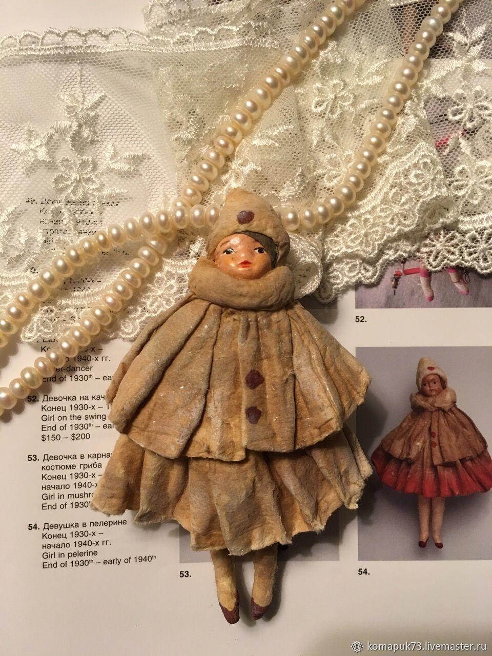 Девочка в пелерине Ватная елочная игрушка, Куклы, Москва, Фото №1