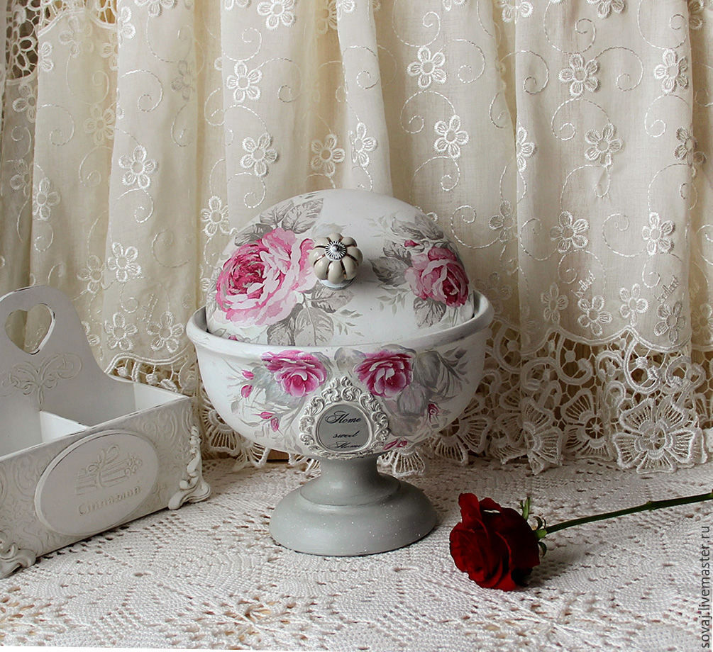 The bread bin shabby chic Cloche 'Pink marshmallow', The bins, ,  Фото №1