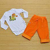 """Работы для детей, ручной работы. Ярмарка Мастеров - ручная работа Комплект одежды для мальчика """"Львенок и черепаха"""". Handmade."""