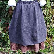 Одежда ручной работы. Ярмарка Мастеров - ручная работа №177 Юбка-бохо льняная. Handmade.